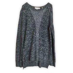 REBECCA TAYLOR Wool Blend Open Kit Gray Sweater